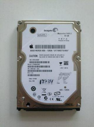 DISCO DURO SEAGATE MOMENTUS 5400.2 80GB for Apple