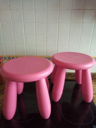 Taburetes Ikea infantiles