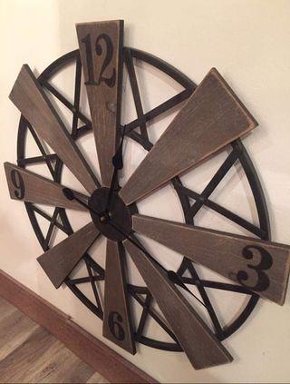 Reloj hélices hierro/madera