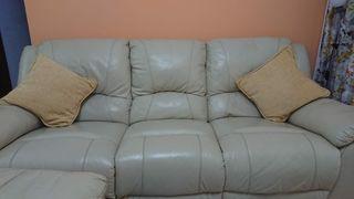 sofá 3 plazas y sillón relax reclinable