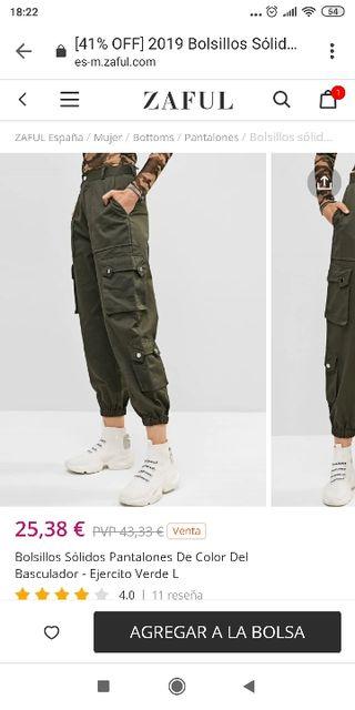 Pantalones militares zaful
