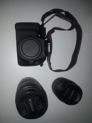 canon 1200d objetivo 18-35mm y 75-300mm