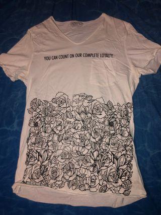 Camiseta corta Bershka