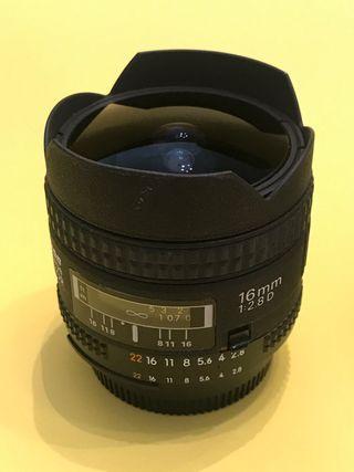 Nikon 16mm 2.8 Ojo de Pez (Full frame FX )