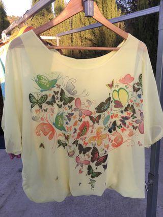 Nueva! Camiseta manga corta 2 capas, talla XL
