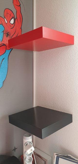 escritorio y estanterías juvenil