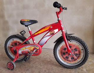 Bicicleta 14 pulgadas con ruedas de iniciacion