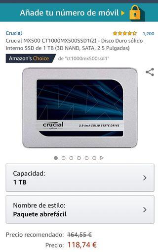 "Disco Duro 2'5"" SSD 1Tb (A estrenar)"