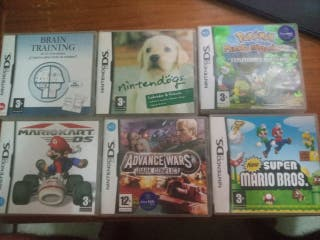Surtido cajas de videojuegos Nintendo DS