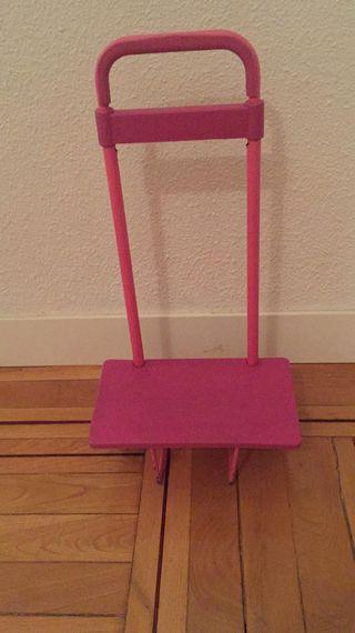 Carrito porta mochilas rosa