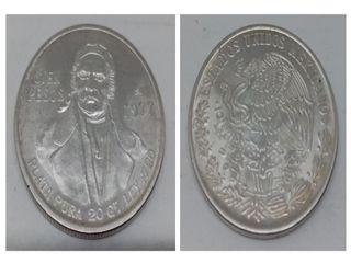 MONEDA PLATA 100 PESOS MEXICANOS 1977