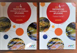 Matemáticas Aplicadas 4 ESO Anaya 10€