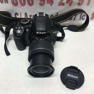 Cámara réflex nikon d3100 con objetivo 18-55