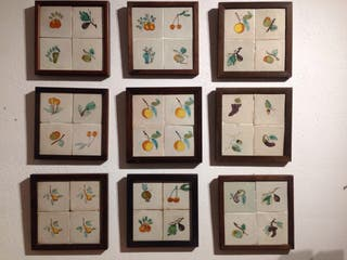 9 plafones de azulejos