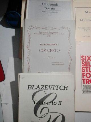 Partituras trombon Hindemith, gotkovsky y blazevit