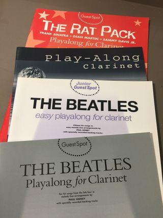 Lote libros musica para clarinete