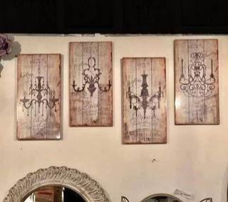 4 Cuadros de madera