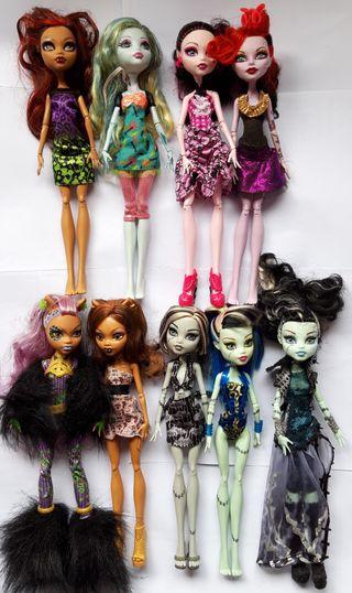 monster high muñecas y accesorios