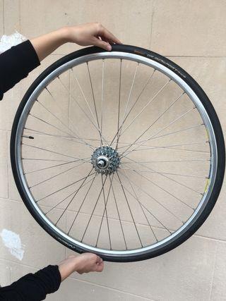 Rueda trasera bicicleta carretera
