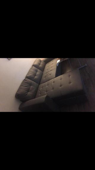 Canapé d'angle convertible avec coffre +lit