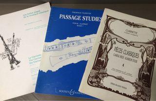 Lote libros partituras clarinete