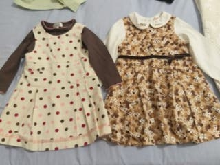 2 vestidos niña, 10€ los dos