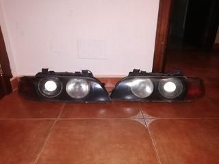 Faros Bmw serie 5 ojos de angel con xennon