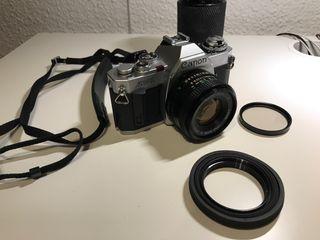 Réflex Canon Analógica + 50mm y 35-200mm
