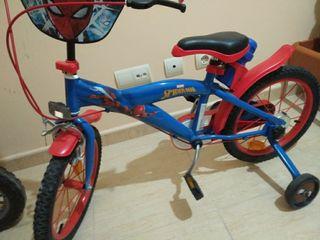 bicicleta Spiderman para niños