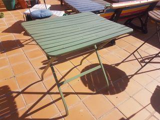 mesa plegable jardín terraza