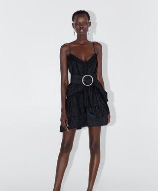 Vestido negro fiesta Zara