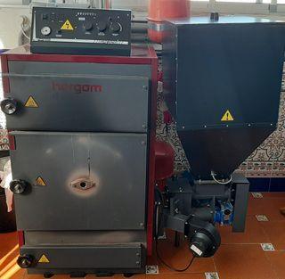 Caldera de biomasa para calefacción