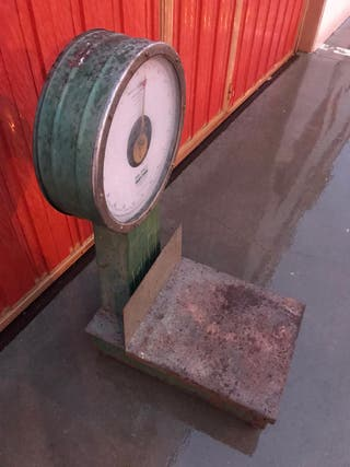 Antigua bascula automática industrial balanco