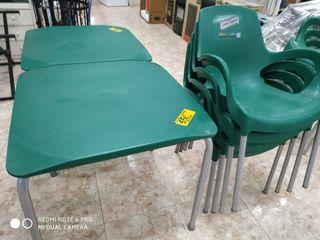 conjunto mesa exterior+4 sillas