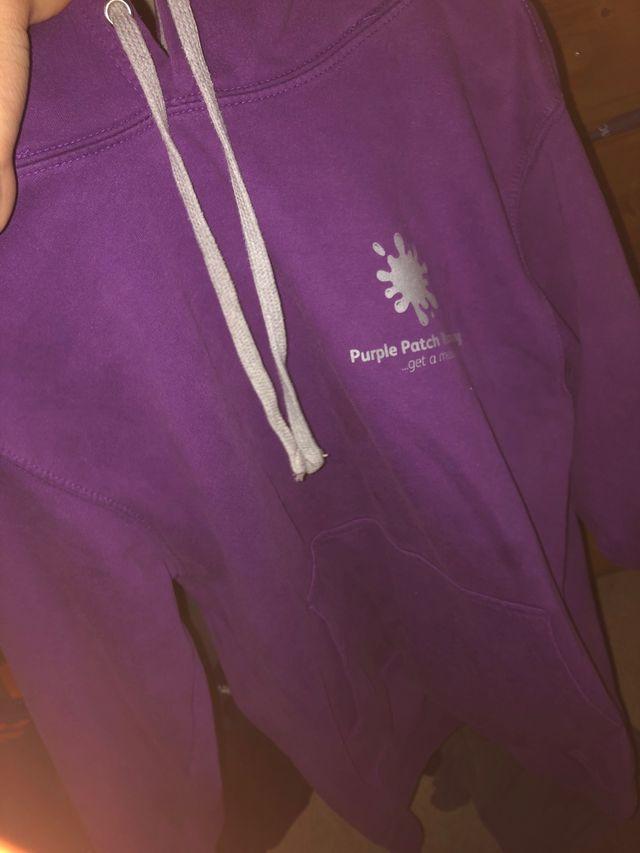Purple running club hoodie
