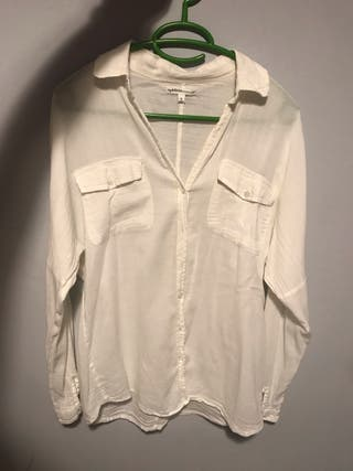 Camisa bolsillo blanca