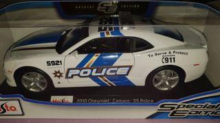 coche 1/18 chevrolet camaro SS police