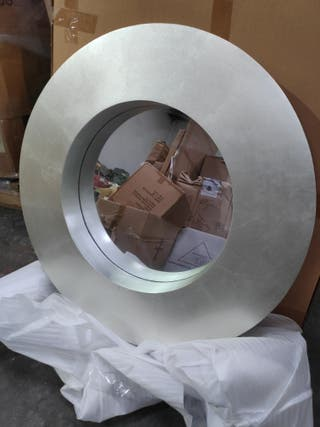 Espejo vintage 75 cm madera plata
