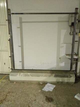 puerta de garaje de corredera con motor 2x 2.20cm