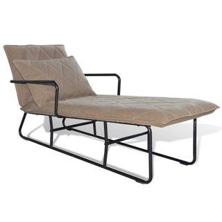 Chaise Longue diván estructura de hierro y tela