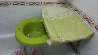 Bañera , cambiador para bebes