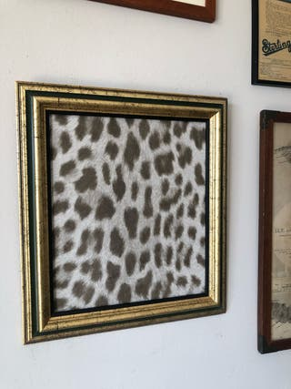 Cuadro dorado- leopardo 35 x 40