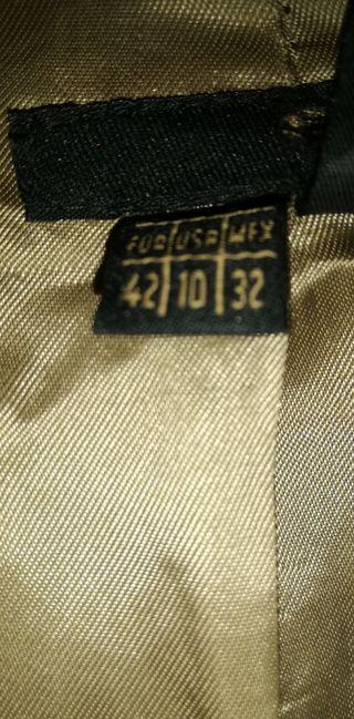 talla 42, abrigo Zara de lana color canela