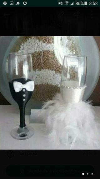 Regalo de boda ,copas originales