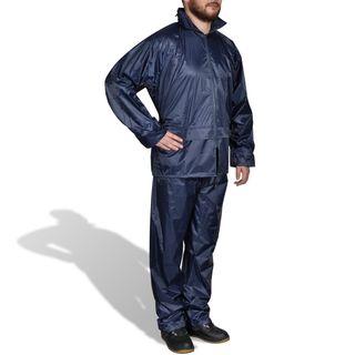 vidaXL Chubasquero impermeable pantalón 130186
