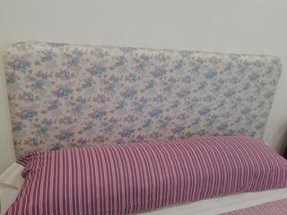 somier, colchón y cabecero de 135cm