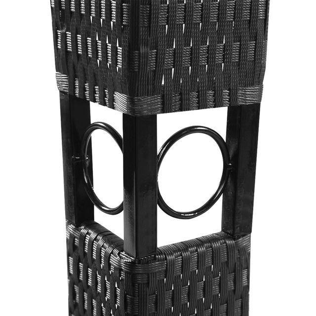 vidaXL Cenador con tejado 3x3 m gris oscuro 41451