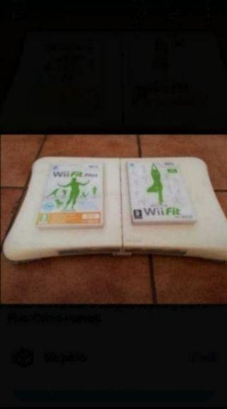 Tabla Wii fit con 2 juegos