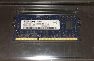 2 memorias RAM 2GB DDR3 PC3 12800S