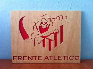 Atletico Madrid Frente atletico Cuadro de Madera